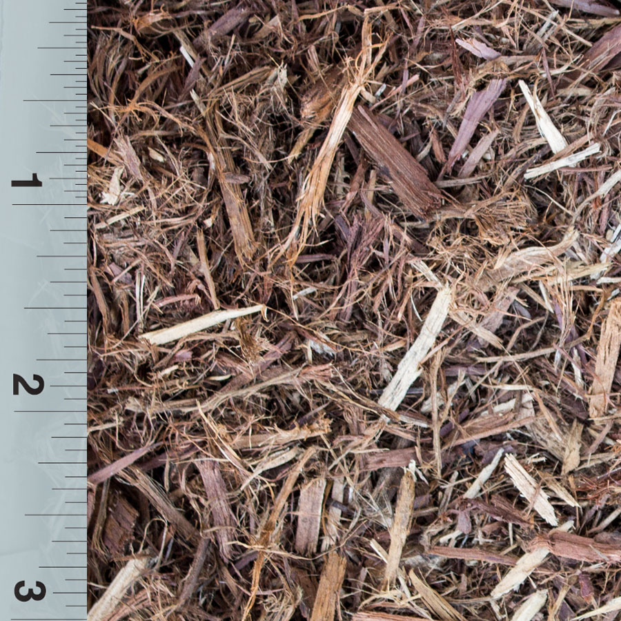 Mulch shredded red cedar western turf